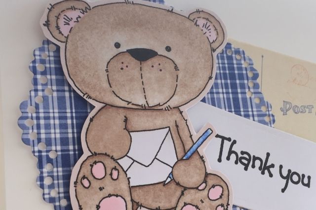Bear with thank you letter